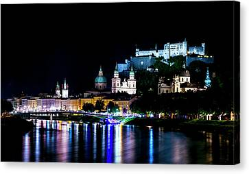 Canvas Print featuring the photograph Beautiful Salzburg by David Morefield