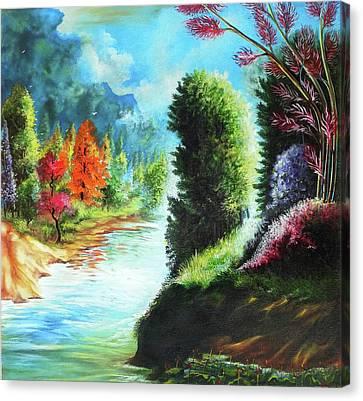 Beautiful Scenery Canvas Print by Arun Sivaprasad