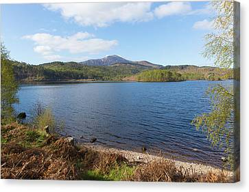 Beautiful Scottish Loch Garry Scotland Uk Lake West Of Invergarry On The A87 South Of Fort Augustus  Canvas Print