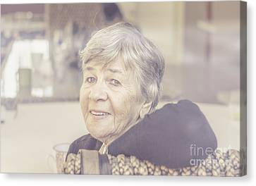 Beautiful Senior Woman Looking Content  Canvas Print by Jorgo Photography - Wall Art Gallery