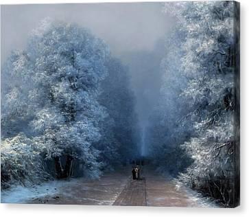 Sound Canvas Print - Beautiful Sound Of Silence by Georgiana Romanovna