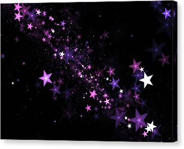 Beautiful Stars Particles Background Canvas Print