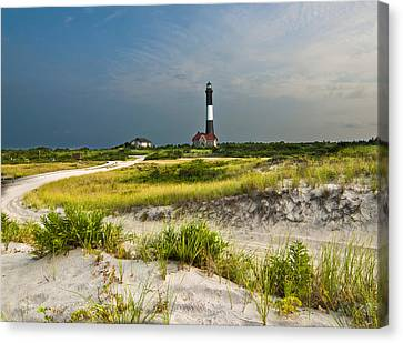 Beautiful Sunrise At The Fire Island Lighthouse Canvas Print by Vicki Jauron