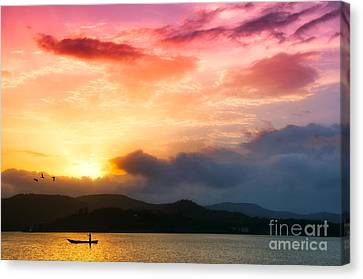 Beautiful Sunset Canvas Print by Charuhas Images