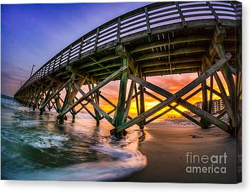 Beautiful Sunset In Myrtle Beach Canvas Print by David Smith