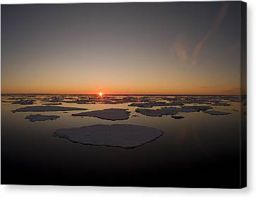 Beautiful Sunset Over An Arctic Ice Canvas Print by Norbert Rosing