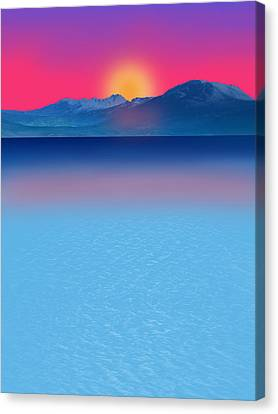 Beautiful Sunset Canvas Print by Art Spectrum