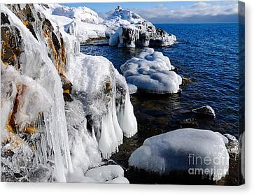 Beautiful Superior Ice Canvas Print