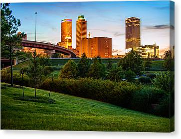 Beautiful Tulsa Oklahoma - Central Park Canvas Print by Gregory Ballos