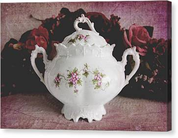 Canvas Print featuring the photograph Beautiful Victorian Bowl  by Trina Ansel