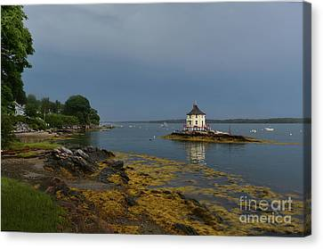 Beautiful Views Of The Nubble In Maine Canvas Print by DejaVu Designs