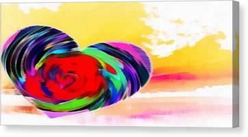 Canvas Print featuring the digital art Beautiful Views Still Exist by Catherine Lott