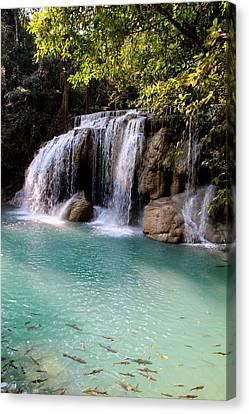 A Beautiful Waterfall In Thailand Canvas Print