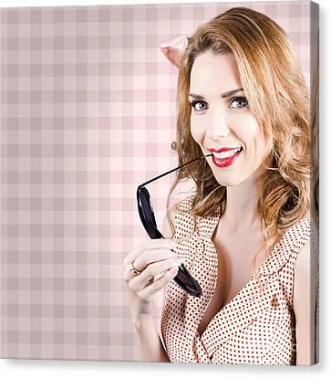 Beautiful Woman Holding Sunglasses Canvas Print by Jorgo Photography - Wall Art Gallery