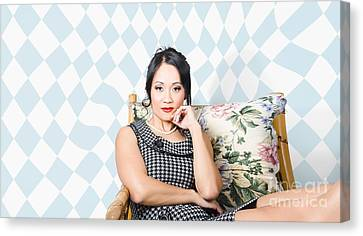 Beautiful Young Asian Woman With Classic Make-up Canvas Print by Jorgo Photography - Wall Art Gallery