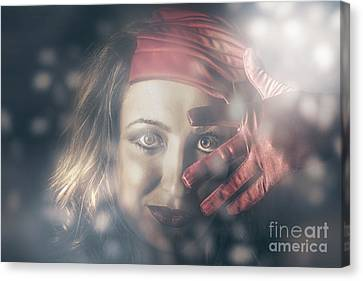 Beautiful Young Party Girl Dancing At A Rave Disco Canvas Print by Jorgo Photography - Wall Art Gallery