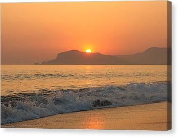 Beautifull Sunset  Canvas Print by Paul Syrbu