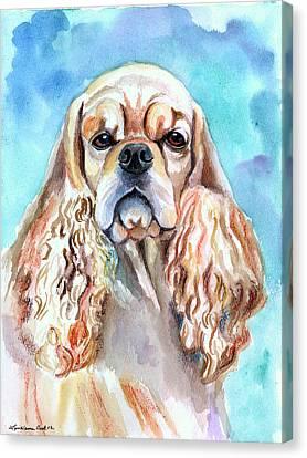 Beauty - American Cocker Spaniel Canvas Print by Lyn Cook