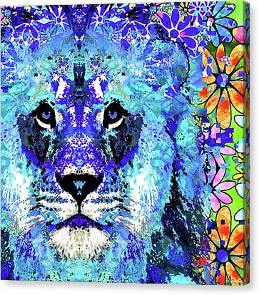 Beauty And The Beast - Lion Art - Sharon Cummings Canvas Print by Sharon Cummings