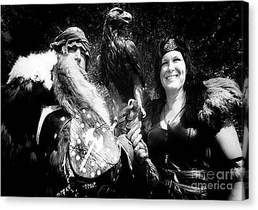 Canvas Print featuring the photograph Beauty And The Beasts by Bob Christopher