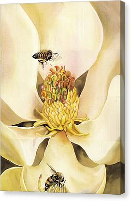 Beauty And The Bees Canvas Print by Alfred Ng