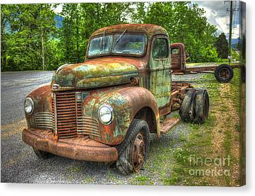 Beauty And The Best 1947 International Harvester Kb 5 Truck Canvas Print by Reid Callaway