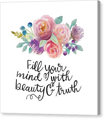 Fill Canvas Print - Beauty And Truth by Nancy Ingersoll
