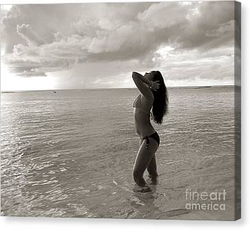 Beauty At The Beach Canvas Print by Scott Cameron
