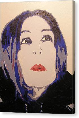 Beauty Beyond The Blue Canvas Print by Ricklene Wren