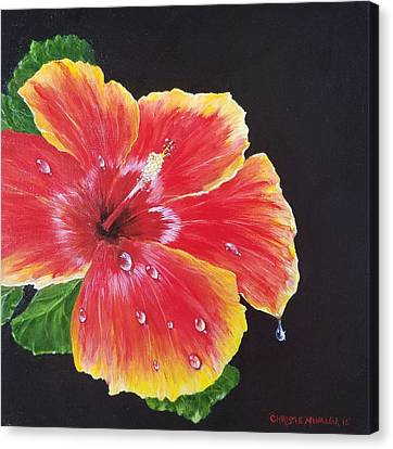 Canvas Print featuring the painting Beauty  by Christie Minalga