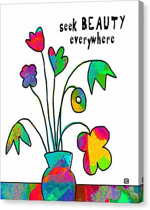 Canvas Print featuring the painting Beauty Everywhere by Lisa Weedn