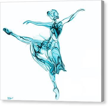Beauty, Grace And Music Of The Ballerina Canvas Print by Abstract Angel Artist Stephen K