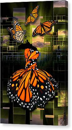 Canvas Print featuring the mixed media Beauty In All Things by Marvin Blaine