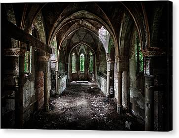 Beauty In Decay Canvas Print by David Van Bael
