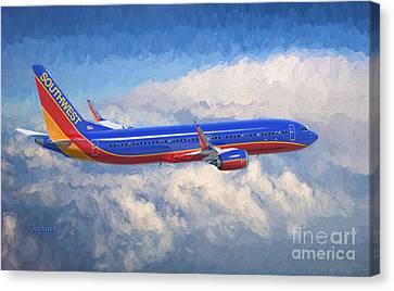 Beauty In Flight Canvas Print by Garland Johnson