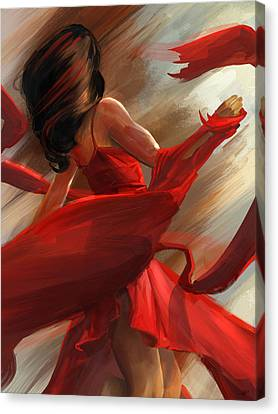 Canvas Print featuring the digital art Beauty In Motion by Steve Goad