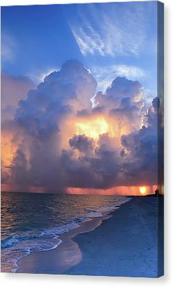 Canvas Print featuring the photograph Beauty In The Darkest Skies II by Melanie Moraga