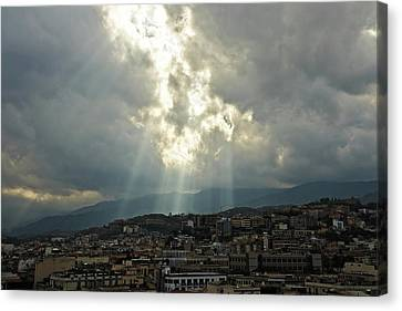 Beauty In The Sky Canvas Print by Cendrine Marrouat
