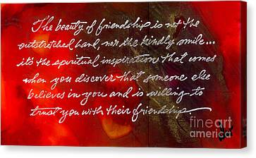 Beauty Of Friendship Canvas Print