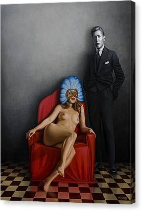 Woman Nude Canvas Print - Beauty Of The Carnival by Horacio Cardozo