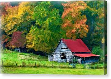 Beauty Of The Leaves Canvas Print by Bobby Blanton