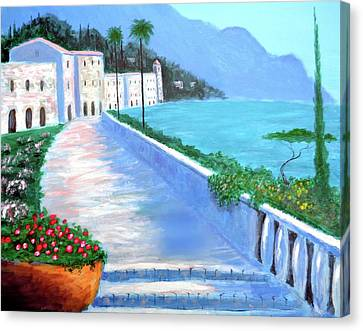 Beauty Of The Riviera Canvas Print
