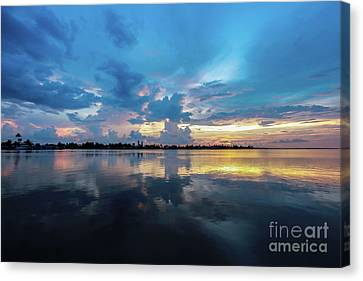 Beauty Over The Water Canvas Print