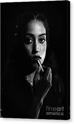 Beauty Portrait Canvas Print by Amanda Elwell