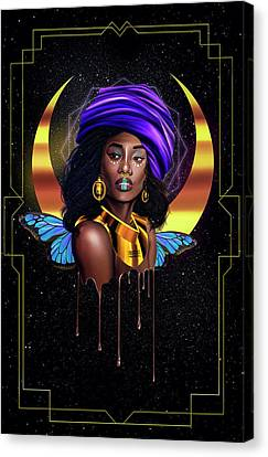 Beauty Queen Tia Canvas Print by Kenal Louis