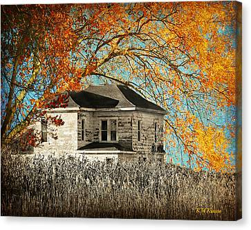 Beauty Surrounds Deserted Home Canvas Print by Kathy M Krause
