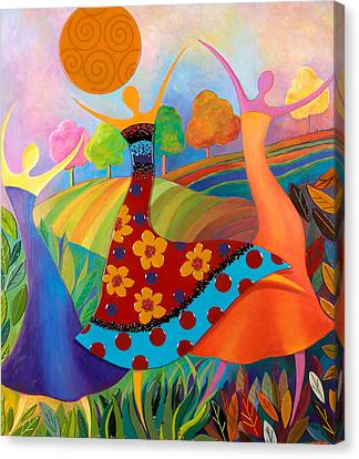 Beauty Through Her Seasons Canvas Print by Anne Nye