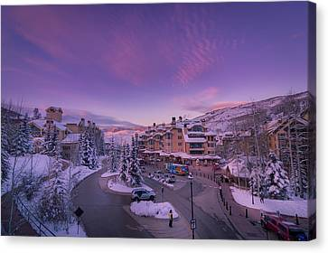 Beaver Creek Village Sunset Canvas Print
