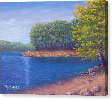 Beaver Lake Blue Canvas Print by Tanja Ware