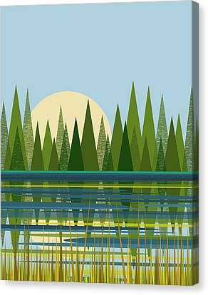 Beaver Pond - Vertical Canvas Print